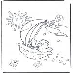 Coloriages pour enfants - Bisounours 2