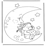 Coloriages pour enfants - Bisounours 4