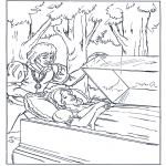 Coloriages faits divers - Blanche-Neige et le prince