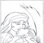 Blanche-Neige mange la pomme