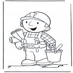 Coloriages pour enfants - Bob avec des découpages