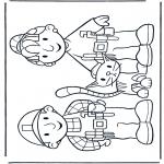 Coloriages pour enfants - Bob et Zoé