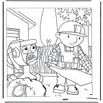 Coloriages pour enfants - Bob le Bricoleur 1