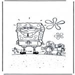 Coloriages pour enfants - Bob l'éponge a honte