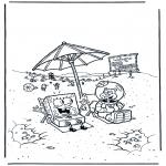 Coloriages pour enfants - Bob l'éponge et Sandy