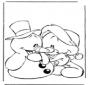 Bonhomme de neige avec ourson