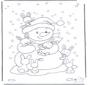 Bonhomme de neige et lapins