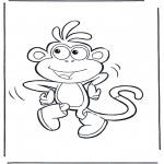 Coloriages pour enfants - Boots le singe
