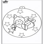 Coloriages Noël - Boule de Noël - Ange 2