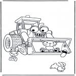 Coloriages pour enfants - Bulldozer de Bob