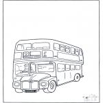 Coloriages faits divers - Bus à impériale