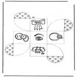 Bricolage coloriages - Cadeau carton 2