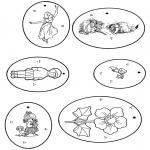 Bricolage coloriages - Cadeau label 2