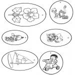 Bricolage coloriages - Cadeau label 6