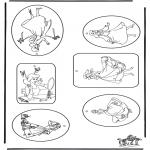 Bricolage coloriages - Cadeau label - Cendrillon
