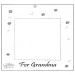 Bricolage coloriages - Cadre photo pour grand-mère