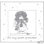 Bricolage coloriages - Cadre photo pour grand-père