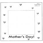 Coloriage thème - Cadre photo pour la fête des mères