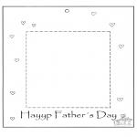 Coloriage thème - Cadre photo pour la fête des pères