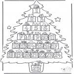 Coloriages Noël - Calendrier  d'avent