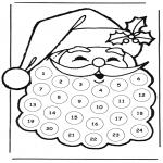 Coloriages Noël - calendrier d'avent père Noël