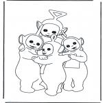 Coloriages pour enfants - Câlin des Télétubbies