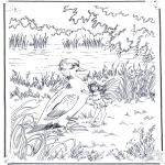 Coloriages faits divers - Canard et elfe