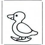 Coloriages pour enfants - Canard pour les petits