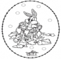 Carte à broder ' lapin