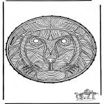 Bricolage cartes de broder - Carte à broder ' lion