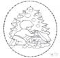 Carte à broder arbre de Noël
