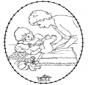 Carte à broder -  bébé 1