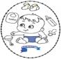 Carte à broder -  bébé 2