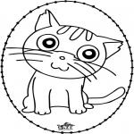 Bricolage cartes de broder - Carte à broder - chat