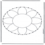 Bricolage cartes de broder - Carte à broder mandala 1