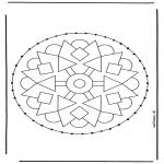 Bricolage cartes de broder - Carte à broder mandala 2