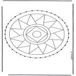 Bricolage cartes de broder - Carte à broder mandala 3