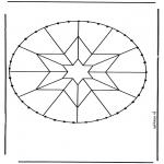Bricolage cartes de broder - Carte à broder mandala 5