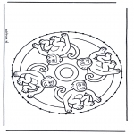 Bricolage cartes de broder - Carte à broder mandala 6