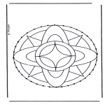Bricolage cartes de broder - Carte à broder mandala 7