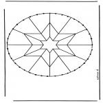 Bricolage cartes de broder - Carte à broder mandala 8