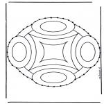 Bricolage cartes de broder - Carte à broder mandala 9