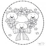 Bricolage cartes de broder - Carte à broder ours