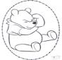 Carte à broder Winnie l'Ourson 1