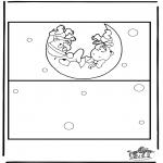 Bricolage coloriages - Carte bébé 2