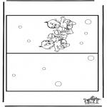 Bricolage coloriages - Carte bébé 3