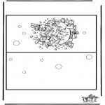 Bricolage coloriages - Carte Bobo
