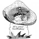 Bricolage coloriages - Carte d'anniversaire 1