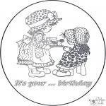 Bricolage coloriages - Carte d'anniversaire 2