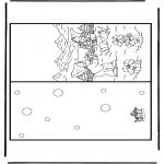 Coloriages Noël - Carte de Noël 10